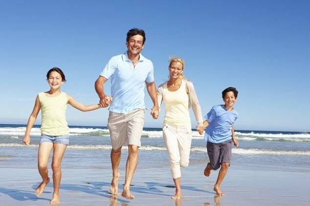 family-on beach